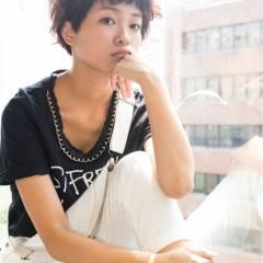 オン眉 ストリート ショート 秋 ヘアスタイルや髪型の写真・画像