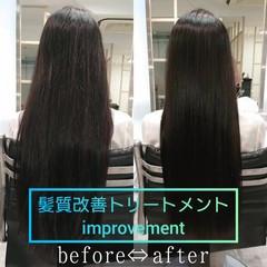 髪質改善 美髪 縮毛矯正 ロング ヘアスタイルや髪型の写真・画像