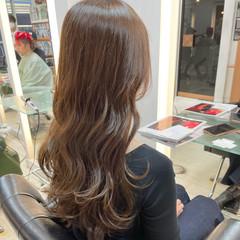 デジタルパーマ 透明感カラー 極細ハイライト 大人可愛い ヘアスタイルや髪型の写真・画像