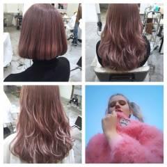 ガーリー レッド ロング ピンク ヘアスタイルや髪型の写真・画像