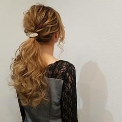 ポニーテール ロング ローポニーテール ヘアアレンジ ヘアスタイルや髪型の写真・画像