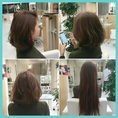デジタルパーマ コンサバ ゆるふわ 前髪あり ヘアスタイルや髪型の写真・画像