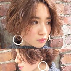小顔 ミルクティー ニュアンス 大人女子 ヘアスタイルや髪型の写真・画像