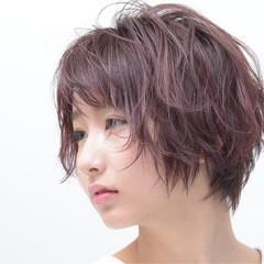 フェミニン ショート ショートボブ ヘアスタイルや髪型の写真・画像