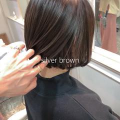 イルミナカラー ボブ 外国人風カラー ミニボブ ヘアスタイルや髪型の写真・画像