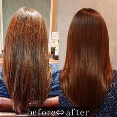 艶髪 ナチュラル 美髪 セミロング ヘアスタイルや髪型の写真・画像