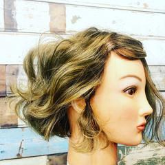 ストリート 切りっぱなしボブ ヘアアレンジ ボブ ヘアスタイルや髪型の写真・画像