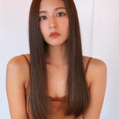 ロング 髪質改善 髪質改善カラー コンサバ ヘアスタイルや髪型の写真・画像