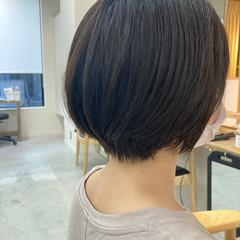 ナチュラル 簡単ヘアアレンジ ショート ひし形シルエット ヘアスタイルや髪型の写真・画像