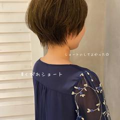 ベリーショート ショートボブ ブラウンベージュ ショートヘア ヘアスタイルや髪型の写真・画像
