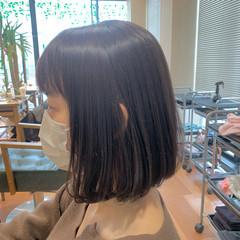 ブラウン ナチュラル ボブ ピンクブラウン ヘアスタイルや髪型の写真・画像