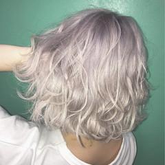 透明感 ガーリー ボブ グラデーションカラー ヘアスタイルや髪型の写真・画像