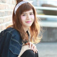 フェミニン 前髪あり セミロング 大人かわいい ヘアスタイルや髪型の写真・画像