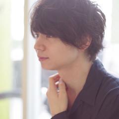 ボーイッシュ モテ髪 パーマ ショート ヘアスタイルや髪型の写真・画像