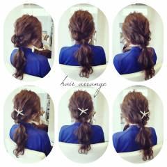 コンサバ 簡単ヘアアレンジ ロング 結婚式 ヘアスタイルや髪型の写真・画像