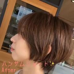 髪質改善トリートメント ナチュラル 髪質改善 ショートヘア ヘアスタイルや髪型の写真・画像