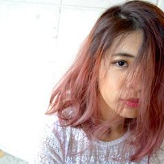 外国人風 抜け感 ダブルカラー ボブ ヘアスタイルや髪型の写真・画像