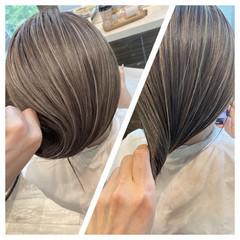 外国人風カラー バレイヤージュ ナチュラル ブリーチ ヘアスタイルや髪型の写真・画像