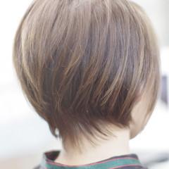 ナチュラル ショート ボブ ショートボブ ヘアスタイルや髪型の写真・画像