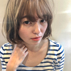 切りっぱなしボブ パーマ ボブ パーマ ヘアスタイルや髪型の写真・画像