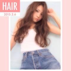ゆるふわ ロング ベース型 ナチュラル ヘアスタイルや髪型の写真・画像