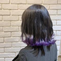 ボブ グラデーションカラー フェミニン 裾カラー ヘアスタイルや髪型の写真・画像