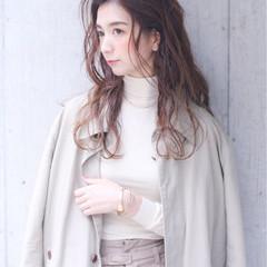 外国人風 簡単ヘアアレンジ 冬 アッシュ ヘアスタイルや髪型の写真・画像