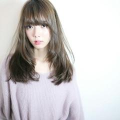 大人かわいい セミロング かわいい フェミニン ヘアスタイルや髪型の写真・画像