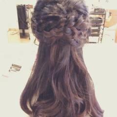 フェミニン 編み込み モテ髪 コンサバ ヘアスタイルや髪型の写真・画像