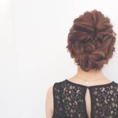 ウェットヘア セミロング ヘアアレンジ パーティ ヘアスタイルや髪型の写真・画像