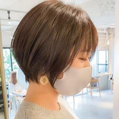 ショートボブ アンニュイほつれヘア ショート 大人かわいい ヘアスタイルや髪型の写真・画像