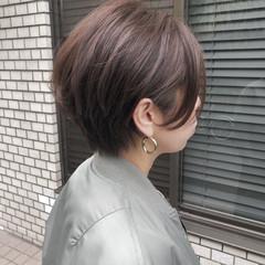 大人ショート ショートボブ ショートヘア 小顔ショート ヘアスタイルや髪型の写真・画像