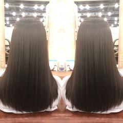 ナチュラル 縮毛矯正 デジタルパーマ ヘアアレンジ ヘアスタイルや髪型の写真・画像