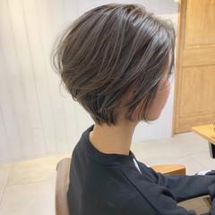 パーマ ショート ナチュラル ヘアアレンジ ヘアスタイルや髪型の写真・画像