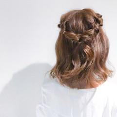 ヘアアレンジ アウトドア デート オフィス ヘアスタイルや髪型の写真・画像