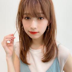 セミロング デジタルパーマ アンニュイほつれヘア モテ髪 ヘアスタイルや髪型の写真・画像