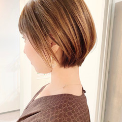大人かわいい ショートボブ デート オフィス ヘアスタイルや髪型の写真・画像