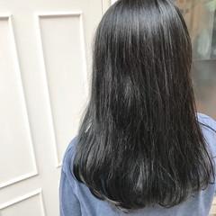 外国人風 ハイライト イルミナカラー ロング ヘアスタイルや髪型の写真・画像