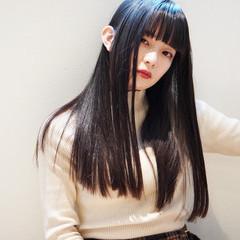 暗髪 暗髪バイオレット 暗髪女子 ネイビー ヘアスタイルや髪型の写真・画像
