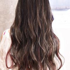 グラデーションカラー ガーリー ロング ハイライト ヘアスタイルや髪型の写真・画像