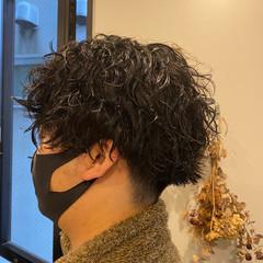 2ブロック スパイラルパーマ ストリート メンズ ヘアスタイルや髪型の写真・画像
