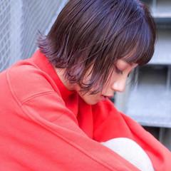 ミニボブ ハイトーンカラー アッシュベージュ 透明感カラー ヘアスタイルや髪型の写真・画像