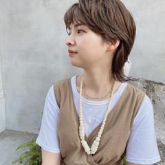 ショートヘア ストリート ショコラブラウン ウルフ女子 ヘアスタイルや髪型の写真・画像