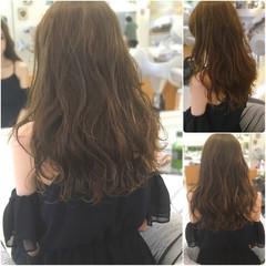 ロング セミロング デート ガーリー ヘアスタイルや髪型の写真・画像