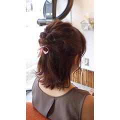 デート 大人女子 結婚式 ミディアム ヘアスタイルや髪型の写真・画像