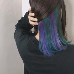 透明感カラー ボブ 外国人風カラー ダブルカラー ヘアスタイルや髪型の写真・画像