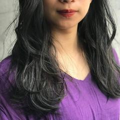 グレージュ ゆるナチュラル ブルージュ ロング ヘアスタイルや髪型の写真・画像