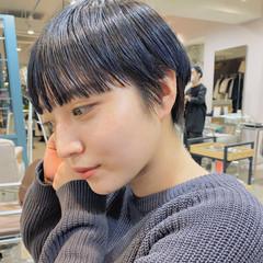 小顔ショート モード ショート 黒髪ショート ヘアスタイルや髪型の写真・画像
