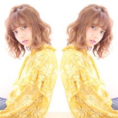 リラックス デート パーマ フェミニン ヘアスタイルや髪型の写真・画像