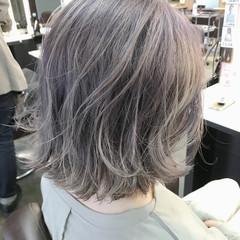 ストリート ボブ ハイトーンカラー ホワイトカラー ヘアスタイルや髪型の写真・画像